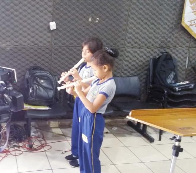 O projeto ensina, além da música, valores éticos, morais e disciplina (Foto: Ascom)