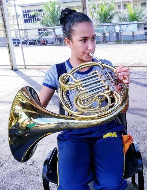 Aluna da Banda que foiaprovada em curso de Licenciatura em Música da UFAC Foto: (Ascom)