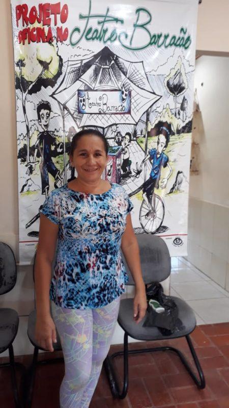 Raimunda Nonata feliz por ter feito sua inscrição no curso Foto:( Katiussi Melo)
